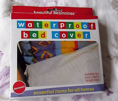 CHILDS WATERPROOF MATTRESS/BED COVER for SNIGLE or COT BEDS