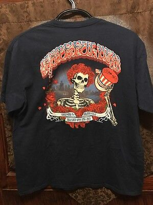 GRATEFUL DEAD OFFICIAL Fare Thee Well Soldier Field Chicago 50 YRS Tour T Shirt