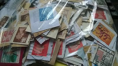 Kiloware 200 grammes with commemoratives, Foreign and GB on paper