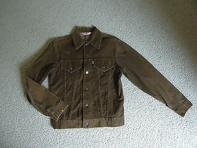VTG 70's LEVI'S Mens Brown CORDUROY TRUCKER JACKET White Tag sz 36 Buttons