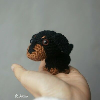 Miniature Dachshund Wiener Dog Limited Edition - Handcrafted Crocheted Gift