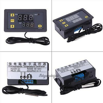 Display Dual Digital PID Temperature Controller Control Relay 20A 12V -50-110°C