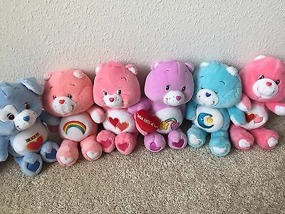 Vintage 2002 collectible Lot Of 6 CARE BEARS 13""