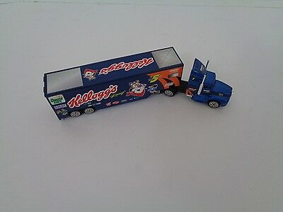 Kelloggs Cereal Toy Semi Truck Collectable Race NASCAR Racing Champions 1990
