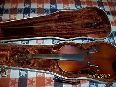 Vintage Violin with Bow & Case