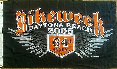NWT Harley Davidson Flag Banner Daytona Beach 64TH Bike Week 2005 Motorcycle