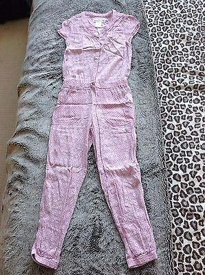 Girls H&M pink jumpsuit, age 7-8