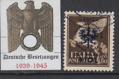 GERMANY REICH - 1944 occup (DT Besetzung) LUBIANA-LAIBACH Mi 34 cv 620$ used