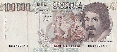 100.000 CENTOMILA LIRE CARAVAGGIO(3) x1   please see high resolution pictures