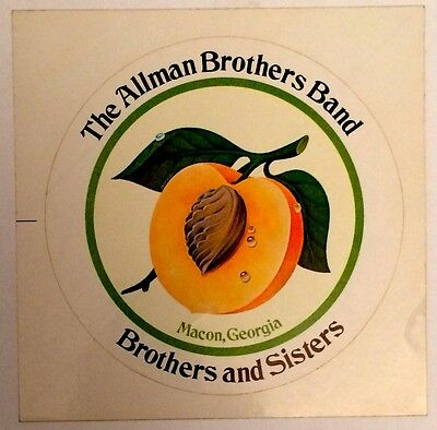 """Allman Brothers Band """"brothers And Sisters"""" Ultra-Rare Original Promo Sticker!!!"""