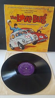 Love Bug LP Record Vintage 1969 Disney with Book Inside VW Beetle Movie  ST3986