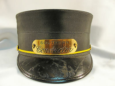 Southern Railroad Conductor Hat  Early & RARE Museum Quality !