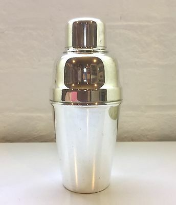 Super Quality Silver Plated Cocktail Shaker Kingsway Deco 1920s Suckling Ltd