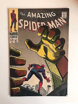 Amazing Spider-Man #67 - Marvel Silver Age comic  - Cents issue - FN/VFN