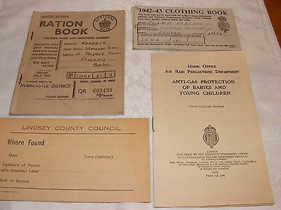 WWII Ration Books + Other Documents - Museum Condition
