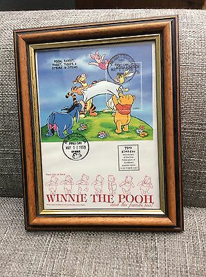 Winnie The Pooh Framed And Stamped 75th Anniversary Picture