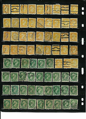 Canada 1&2 Cent Queen Victoria Stamps- Used-Nice Collection
