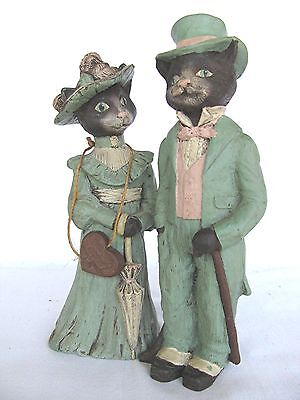 Sarah's Attic Limited Edition Mr. & Mrs Cat Signed Messielar Pierre/1989