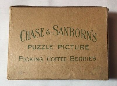 Vintage Chase & Sanborn Picking Coffee Berries Advertisement Puzzle