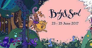 3 X BODY &SOUL TICKETS WEEKEND CAMPING *will sell singly**