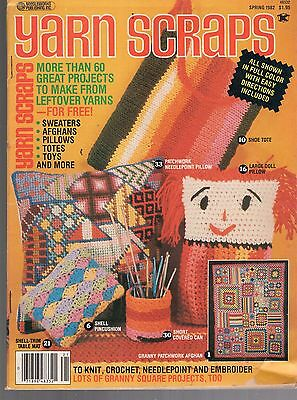 Spring 1982 Yarn Scraps Magazine-60 Great Projects To Make From Leftover Yarn