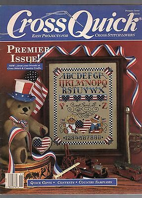 1988 Cross Quick Magazine-Premier Issue-Volume 1 Number 1-Cross Stitch Lovers
