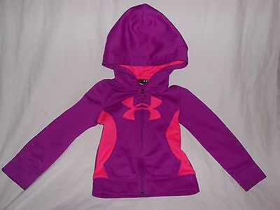 Under Armour 3T Girl Toddler Jacket Hoodie Purple Pink Full Zipper
