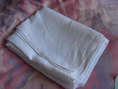 1 Antique Bed Sheet/Tablecloth~White Homespun Linen~71in x 49ins