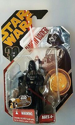 Star War Galactic Hunt Darth Vader Hard To Find Gold Coin Mint Nice!
