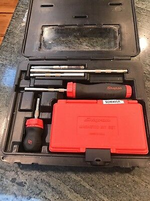 Snap On Ratcheting Screwdriver Set SGDMRC108A In Excellent Shape