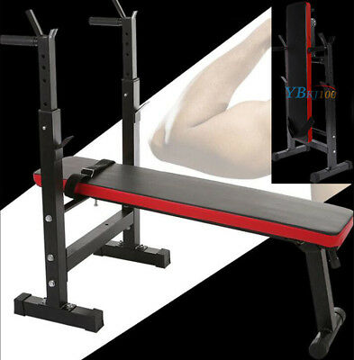 Olympic Weight Bench Set Press Fitness Home Gym Workout Strength Barbell