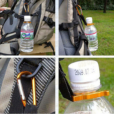 2pcs Carabiner Water Bottle Buckle Hook Holder Clip Camping Outdoor Useful HHUK