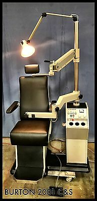Burton Dura 2001 Ophthalmic Chair and Stand w/wells (Fully Refurbished)