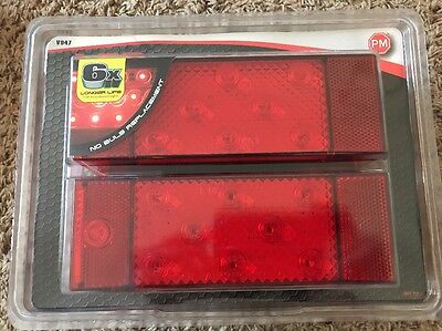 Brand NEW Peterson Piranha LED Submersible Rear Trailer Light Kit v947