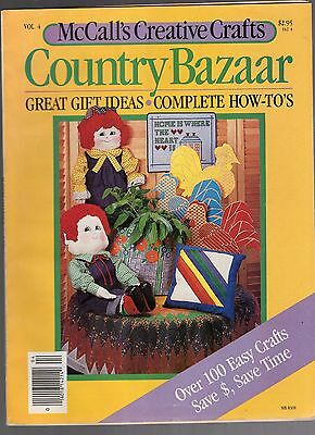 1983 McCALL'S CREATIVE CRAFTS COUNTRY BAZAAR MAGAZINE-VOLUME 4-100 EASY CRAFTS