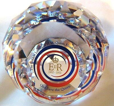 Swarovski paperweight 60mm Royal Queen Elizabeth Golden Jubilee.Mint+box