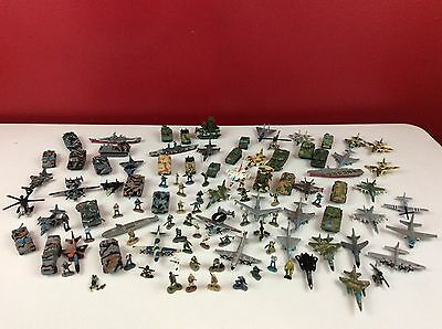 Vintage Micro Machines Military Lot Skull Terror Troops Freedom Force 107 Pc.