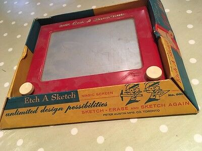 Etch A Sketch Vintage Retro Game With Box