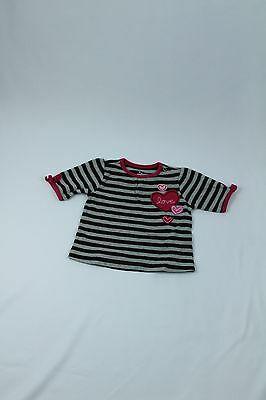 Girls Small Wonders Heart Striped Top , size 6-9 mo