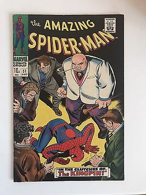 Amazing Spider-Man #51 FN+..2nd appearance of THE KINGPIN! (Marvel Comics) 1966