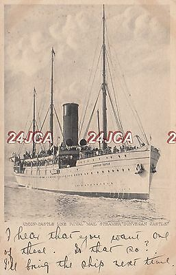 "Union Castle Postcard. SS ""Dunvegan Castle"" Steamer. Hospital Ship WWI. c 1902"