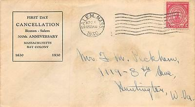 682 2c Massachusetts Bay Colony, First Day Cover Cachet [E233229]