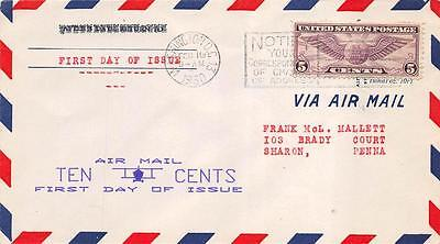 C12 5c Winged Globe, First Day Cover Cachet [E233240]