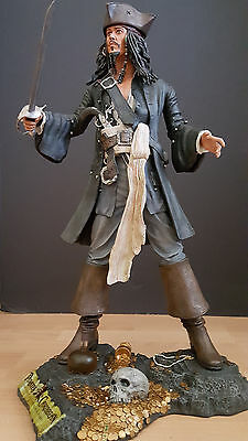 "NECA Jack Sparrow statue figure 18"" The curse of the Black Pearl Nt Sideshow"