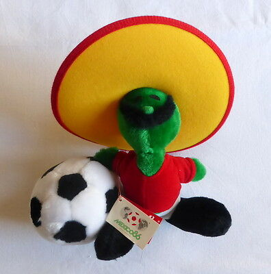 Vintage soft toy PIQUE the oficial mascot of WORLD CUP MEXICO 86 25 cm