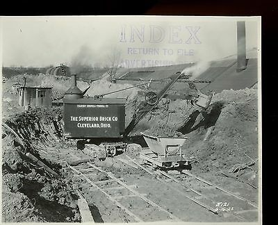 Vintage 8 x10 Photo Marion Steam Shovel Working for Superior Brick Cleveland