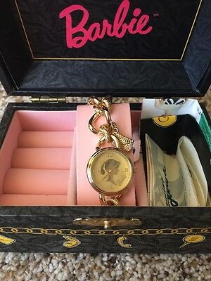 Gold Barbie Charms Fossil Watch