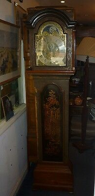 Will Avenall Alresford 18th Century Moonphase Lacq Longcase Needs Case Restored
