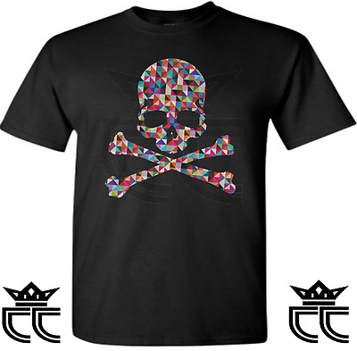 716a31ecb9a4 Exclusive Tee  T-Shirt To Match Adidas Zx Flux Multicolor Prisms! Prism  Skull