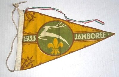 RdRARE 1933 BOY SCOUT WORLD JAMBOREE PENNANT BUDAPEST HUNGARY EXCELLENT CONDITIO